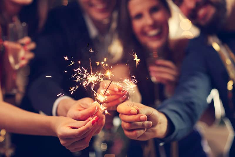 couple, célébrer, fête