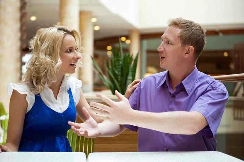 couple, parler, premier, date