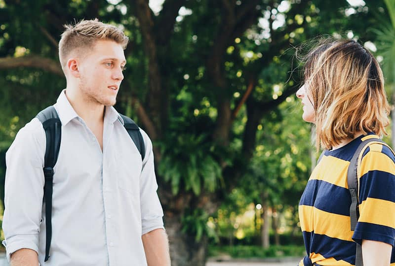 jeune couple, rupture
