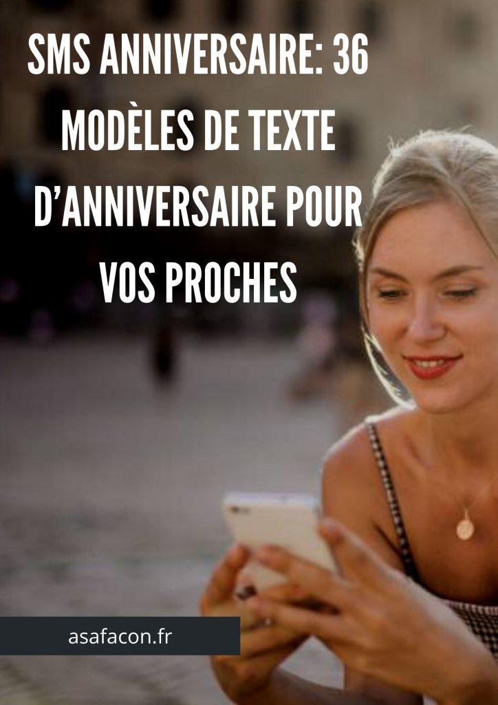 Sms anniversaire_ 36 modèles de texte d'anniversaire pour vos proches