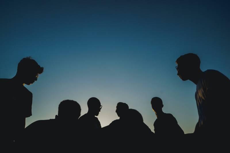 photo de silhouette de personnes