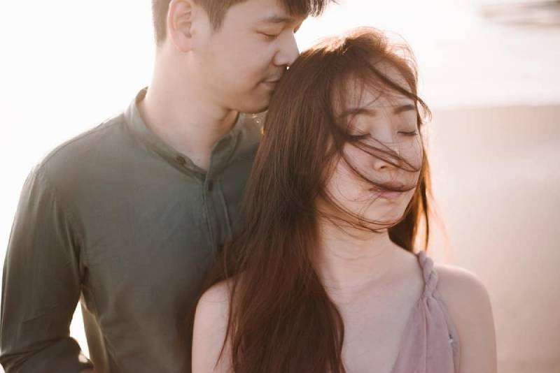 portrait d'un couple romantique