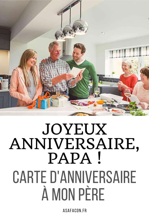 Joyeux Anniversaire, Papa ! Carte D'anniversaire À Mon Père