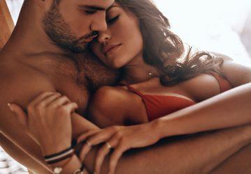homme, étreindre, passionné, femme