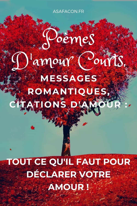 Poèmes D'amour Courts, Messages Romantiques, Citations D'amour : Tout Ce Qu'il Faut Pour Déclarer Votre Amour !