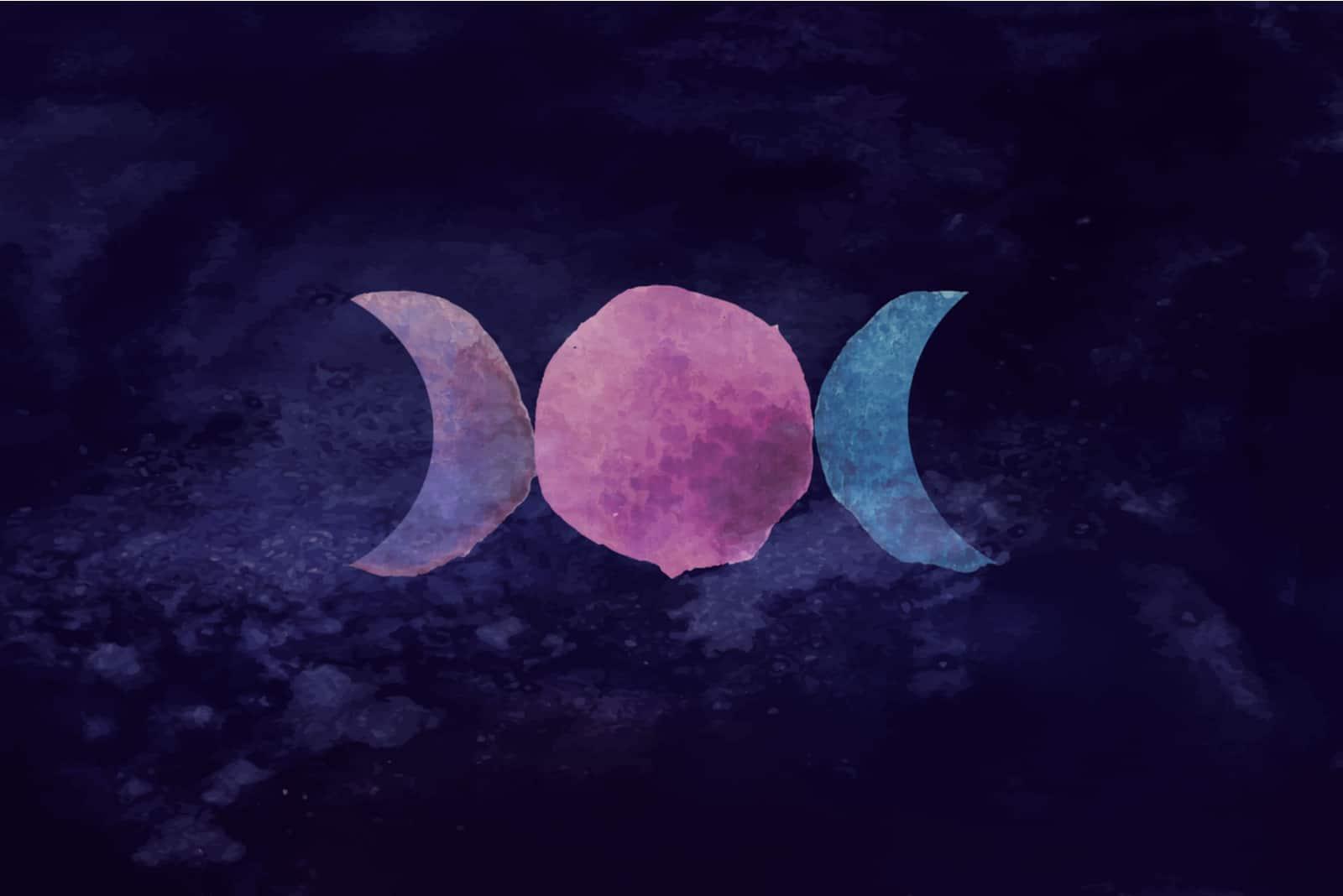 symbole triple lune