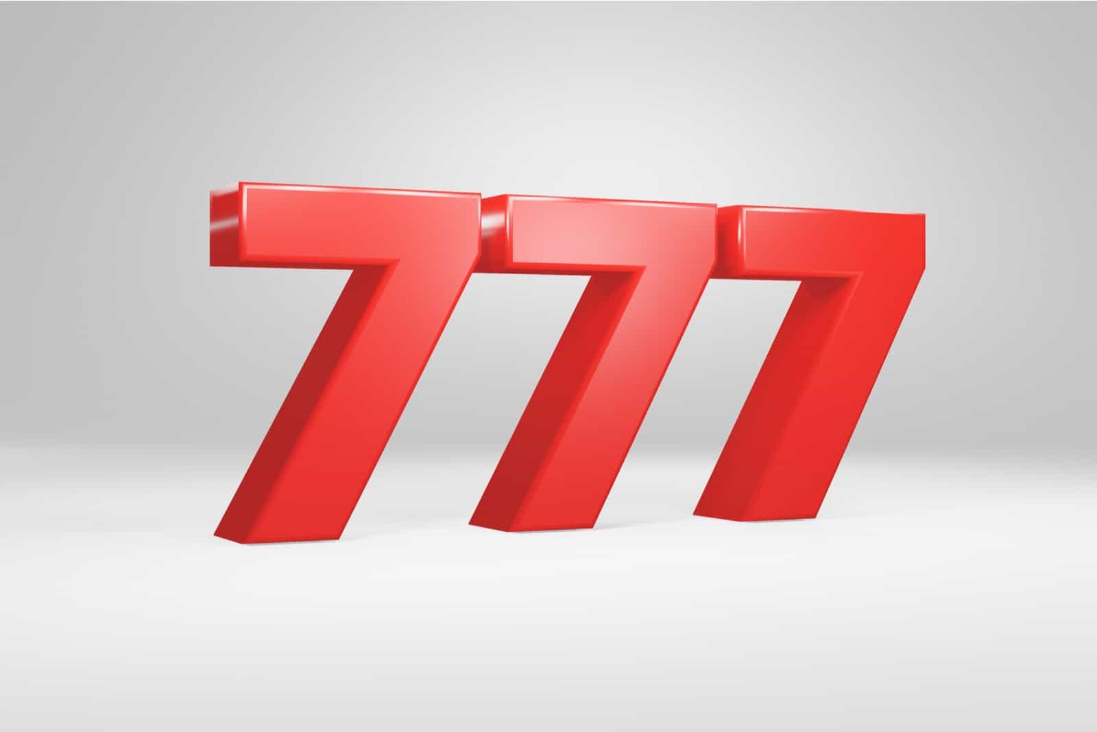 numéro 777 rouge