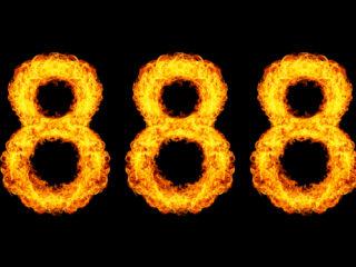 numéro 888 sur fond noir